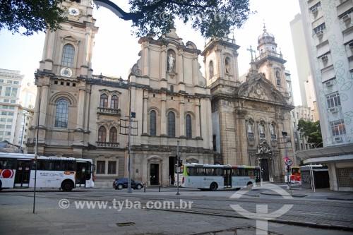 Fachada da Igreja de Nossa Senhora do Carmo (1770) - antiga Catedral do Rio de Janeiro - à esquerda - com a Igreja da Ordem Terceira do Carmo (século XVII) - à direita - Rio de Janeiro - Rio de Janeiro (RJ) - Brasil
