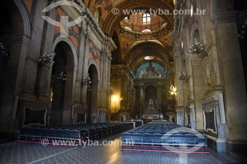 Interior da Igreja de Nossa Senhora da Candelária (1609) - Rio de Janeiro - Rio de Janeiro (RJ) - Brasil