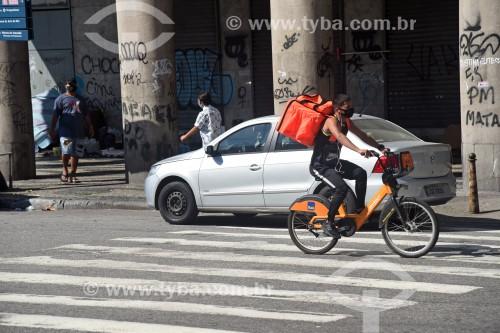 Ciclista entregador de restaurante - via aplicativo Rappi - Rio de Janeiro - Rio de Janeiro (RJ) - Brasil