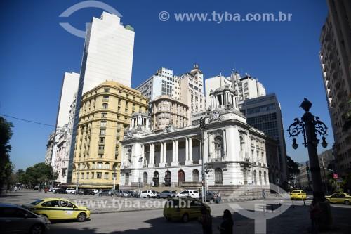 Fachada do Palácio Pedro Ernesto (1923) - sede da Câmara Municipal do Rio de Janeiro - Rio de Janeiro - Rio de Janeiro (RJ) - Brasil