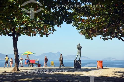 Vista da Praia Vermelha com a Escultura à Frédéric Chopin (1944) - Rio de Janeiro - Rio de Janeiro (RJ) - Brasil