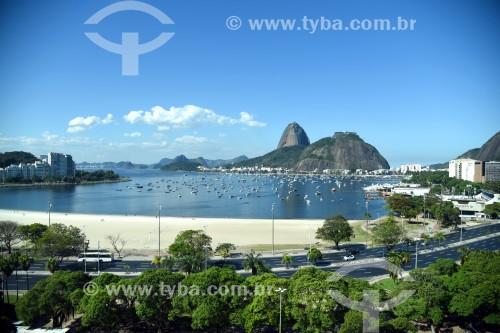 Vista do pão de Açúcar a partir da Praia de Botafogo - Rio de Janeiro - Rio de Janeiro (RJ) - Brasil