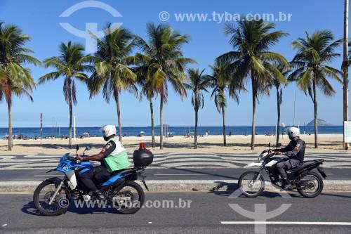 Calçadão na Praia do Leme - Rio de Janeiro - Rio de Janeiro (RJ) - Brasil