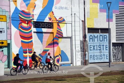 Ciclistas na Orla Prefeito Luiz Paulo Conde (2016) - Rio de Janeiro - Rio de Janeiro (RJ) - Brasil