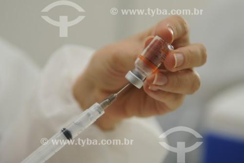 Início da vacinação contra a Covid-19 nos profissionais da saúde - São José do Rio Preto - São Paulo (SP) - Brasil