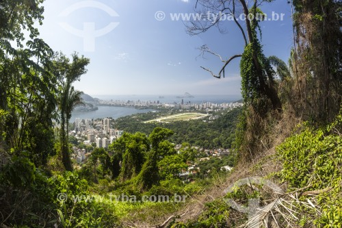 Vista da Lagoa Rodrigo de Freitas a partir do Parque Nacional da Tijuca - Rio de Janeiro - Rio de Janeiro (RJ) - Brasil