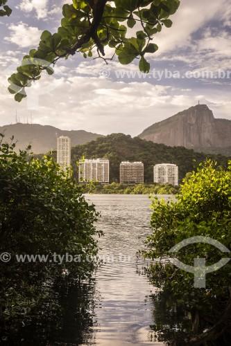 Lagoa Rodrigo de Freitas com Morro do Corcovado ao fundo  - Rio de Janeiro - Rio de Janeiro (RJ) - Brasil
