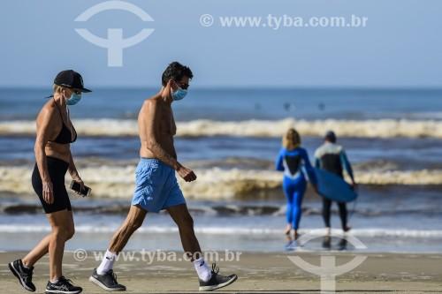 Pessoas na Praia Atlântida - Xangri-lá - Rio Grande do Sul (RS) - Brasil
