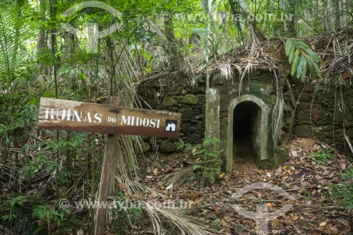 Ruínas do Sítio Midosi no Parque Nacional da Tijuca  - Rio de Janeiro - Rio de Janeiro (RJ) - Brasil