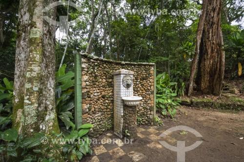 Fonte histórica no Lago das Fadas no Parque Nacional da Tijuca  - Rio de Janeiro - Rio de Janeiro (RJ) - Brasil