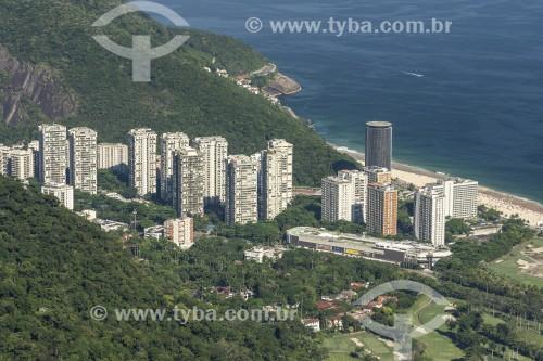 Vista do bairro de São Conrado a partir da Pedra Bonita  - Rio de Janeiro - Rio de Janeiro (RJ) - Brasil