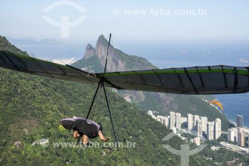 Decolagem de asa-delta a partir da rampa da Pedra Bonita/Pepino - Rio de Janeiro - Rio de Janeiro (RJ) - Brasil