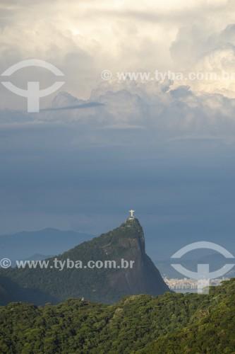 Vista do Cristo Redentor a partir da Pedra Bonita - Rio de Janeiro - Rio de Janeiro (RJ) - Brasil