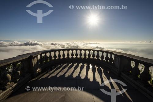 Mirante do Cristo Redentor durante o amanhecer  - Rio de Janeiro - Rio de Janeiro (RJ) - Brasil