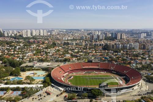 Foto feita com drone do Estádio Cícero Pompeu de Toledo (1960) - também conhecido como Estádio do Morumbi  - São Paulo - São Paulo (SP) - Brasil