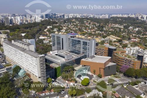 Foto feita com drone do Hospital Albert Einstein - São Paulo - São Paulo (SP) - Brasil