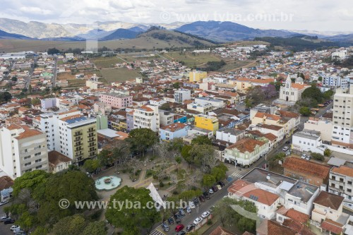 Foto feita com drone da Praça Coronel José Vieira - Paraisópolis - Minas Gerais (MG) - Brasil