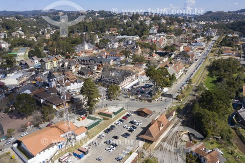 Foto feita com drone da Vila Capivari - Campos do Jordão - São Paulo (SP) - Brasil