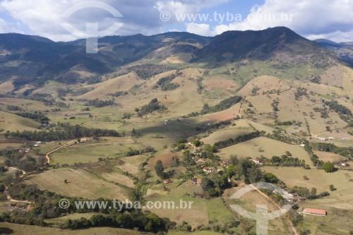 Foto feita com drone de paisagem na Serra da Mantiqueira - Brasópolis - Minas Gerais (MG) - Brasil
