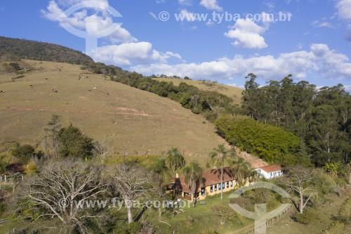 Foto feita com drone de sede de hotel fazenda na zona rural de Paraisópolis - Paraisópolis - Minas Gerais (MG) - Brasil