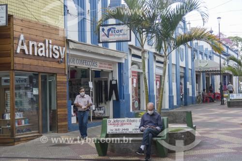 Calçadão da Rua São José - Paraisópolis - Minas Gerais (MG) - Brasil