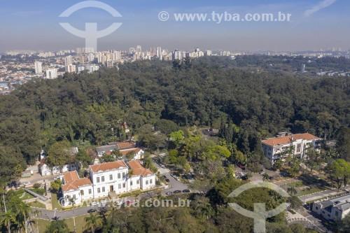 Foto feita com drone do Instituto Butantan - Fundado em 1901 - São Paulo - São Paulo (SP) - Brasil
