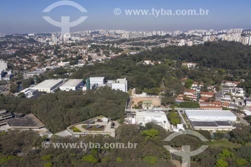 Foto feita com drone do complexo do Instituto Butantan - Fundado em 1901 - São Paulo - São Paulo (SP) - Brasil