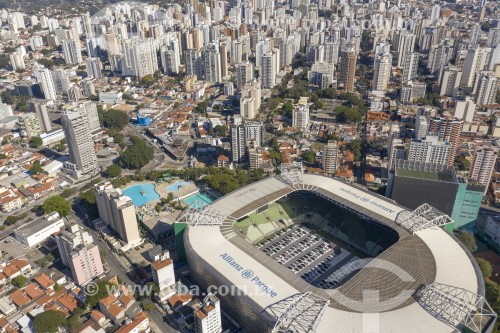 Foto feita com drone de show no Allianz Parque em sistema Drive-In devido à Crise do Coronavírus - São Paulo - São Paulo (SP) - Brasil