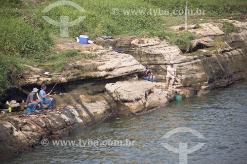 Pesca de lazer no Rio Piracicaba - Santa Maria da Serra - São Paulo (SP) - Brasil
