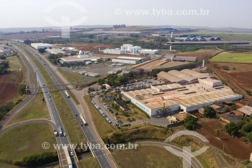 Foto feita com drone do polo cerâmico de Santa Gertrudes - Santa Gertrudes - São Paulo (SP) - Brasil