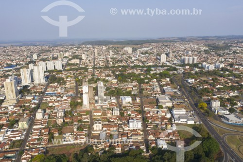 Foto feita com drone do centro da cidade - Botucatu - São Paulo (SP) - Brasil