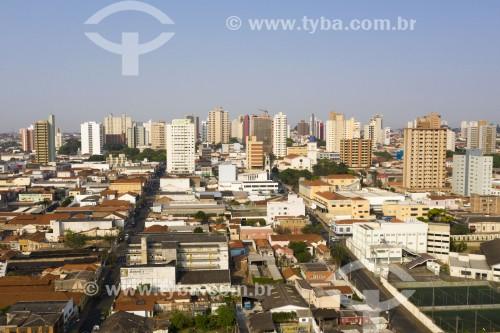 Foto feita com drone da cidade - Limeira - São Paulo (SP) - Brasil