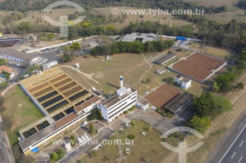 Foto feita com drone de estação de tratamento de água privada - Limeira - São Paulo (SP) - Brasil