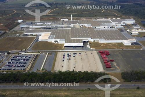 Foto feita com drone da fábrica de automóveis da Toyota - Sorocaba - São Paulo (SP) - Brasil