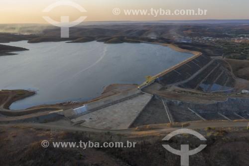 Foto feita com drone do Reservatório Jati da Transposição do Rio São Francisco - eixo norte - Jati - Ceará (CE) - Brasil