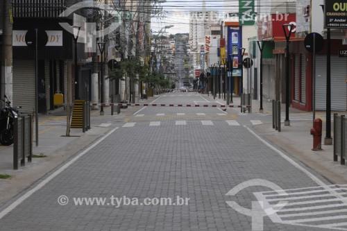 Rua General Glicério durante o período de lockdown adotado na cidade - Crise do Coronavírus - São José do Rio Preto - São Paulo (SP) - Brasil