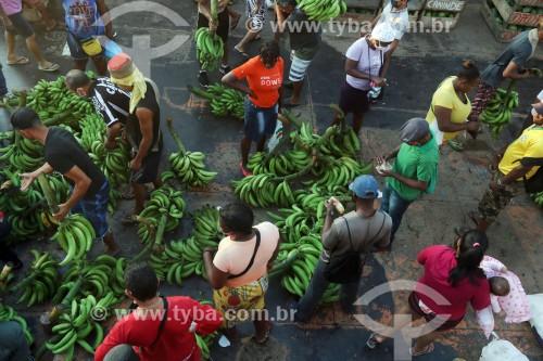 Venda de bananas no Porto de Manaus - Manaus - Amazonas (AM) - Brasil
