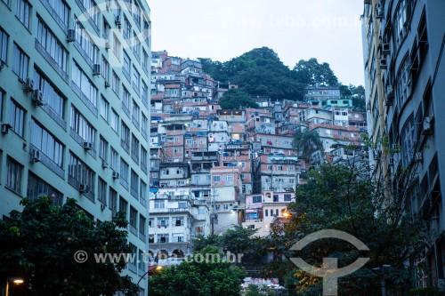 Favela do Cantagalo visto da Rua Raul Pompéia - Rio de Janeiro - Rio de Janeiro (RJ) - Brasil