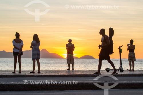 Nascer do sol na Praia de Copacabana - Rio de Janeiro - Rio de Janeiro (RJ) - Brasil