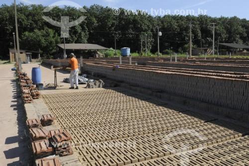 Tijolos secando em olaria - José Bonifácio - São Paulo (SP) - Brasil