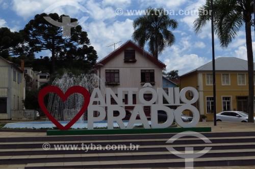 Letreiro na cidade de antônio Prado - Antônio Prado - Rio Grande do Sul (RS) - Brasil