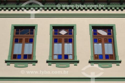 Detalhe de janela de casa - Colonização italiana - Antônio Prado - Rio Grande do Sul (RS) - Brasil