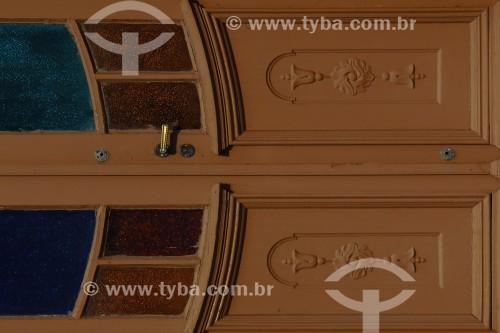 Detalhe de porta de casa - Colonização italiana - Antônio Prado - Rio Grande do Sul (RS) - Brasil