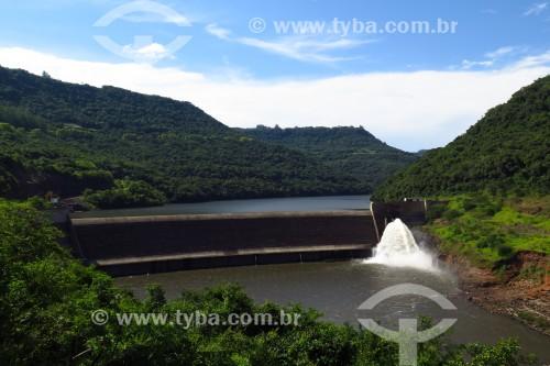 Barragem no Rio das Antas - Nova Roma do Sul - Rio Grande do Sul (RS) - Brasil