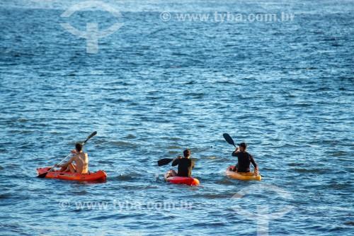 Caiaques no posto 6 da Praia de Copacabana  - Rio de Janeiro - Rio de Janeiro (RJ) - Brasil