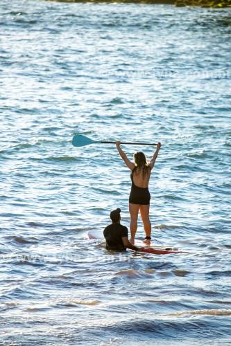 Aula de Stand up paddle no posto 6 da Praia de Copacabana  - Rio de Janeiro - Rio de Janeiro (RJ) - Brasil