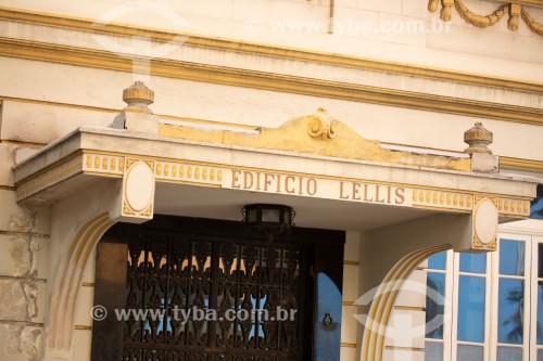 Detalhe da fachada do Edifício Lellis (1931) - Rua Barão de Ipanema - Rio de Janeiro - Rio de Janeiro (RJ) - Brasil