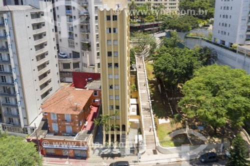 Foto feita com drone da escadaria ligando a Rua Frei Caneca à Rua Avanhandava - São Paulo - São Paulo (SP) - Brasil