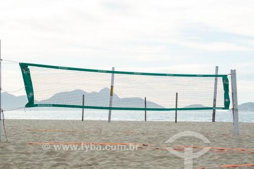 Equipamentos para prática esportiva na Praia de Copacabana - Rio de Janeiro - Rio de Janeiro (RJ) - Brasil