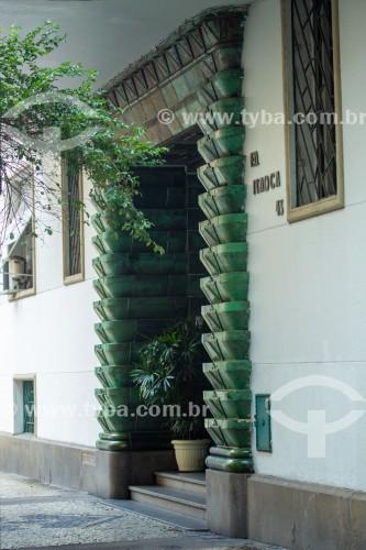 Fachada do Edifício Itaoca na Rua Duvivier - Rio de Janeiro - Rio de Janeiro (RJ) - Brasil